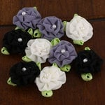 Prima - Trixie Collection - Fabric Flower Embellishments - Cinder