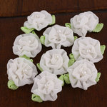 Prima - Trixie Collection - Fabric Flower Embellishments - White