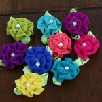 Prima - Trixie Collection - Fabric Flower Embellishments - Bright