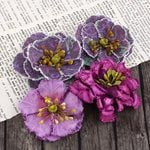 Prima - Fabrique Collection - Fabric Flower Embellishments - Grape