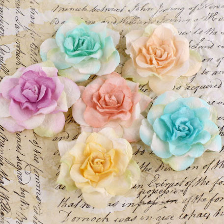 Prima - Pankita Rose Collection - Flower Embellishments - Spring Mix