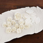 Prima - Laraine Collection - Flower Embellishments - Pearl White