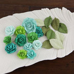 Prima - Laraine Collection - Flower Embellishments - Blue Lagoon