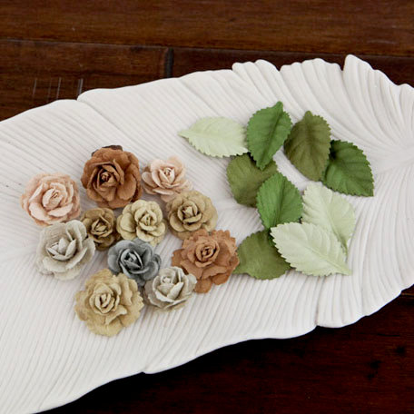 Prima - Laraine Collection - Flower Embellishments - River Rock