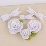 Prima - Marcelle Collection - Fabric Bow and Flower Embellishments - Spotlight
