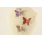 Prima - Fabric Butterfly Embellishments - Brown