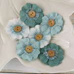 Prima - Primmers Collection - Fabric Flower Embellishments - Bottle Green