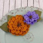 Prima - Cascade Collection - Fabric Flower Embellishments - Autumn