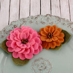 Prima - Cascade Collection - Fabric Flower Embellishments - Currant