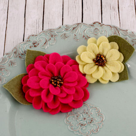 Prima - Cascade Collection - Fabric Flower Embellishments - Strawberry