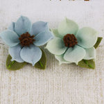 Prima - Sassy Collection - Fabric Flower Embellishments - Aqua