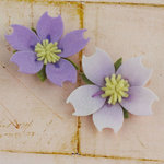 Prima - Merelle Collection - Fabric Flower Embellishments - Lilac