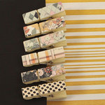 Prima - Rondelle Collection - Canvas Covered Wood Clips