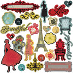 Prima - Welcome to Paris Collection - Chipboard Pieces