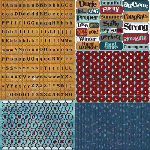 Prima - Craftsman Collection - Cardstock Stickers - Tiny Alphabets