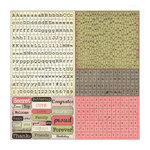 Prima - Tea-Thyme Collection - Cardstock Stickers - Alphabets
