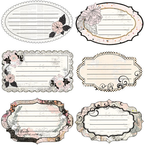 Prima - Rondelle Collection - Journaling Notecards Set