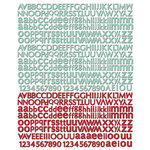 Prima - Welcome to Paris Collection - Textured Stickers - Alphabet