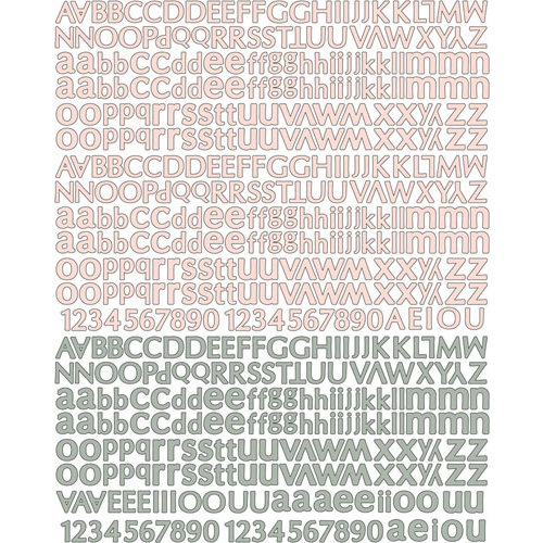 Prima - Rondelle Collection - Textured Stickers - Alphabet