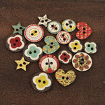 Prima - Welcome to Paris Collection - Wood Embellishments - Buttons