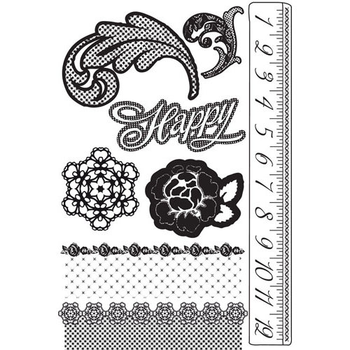 Prima - Rosarian Collection - Cling Mounted Rubber Stamps