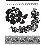 Prima - Rosarian Collection - Clear Acrylic Stamps - Mix 1