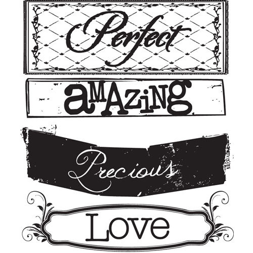 Prima - Zephyr Collection - Clear Acrylic Stamps - Mix 2