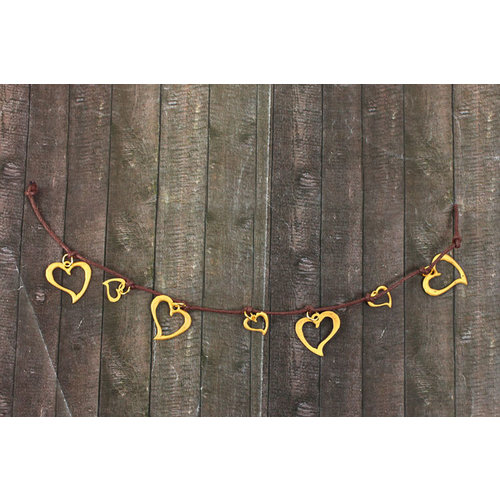 Prima - Be-Charmed Collection - String Embellishments - Metal Hearts