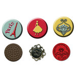 Prima - Welcome to Paris Collection - Cabochons and Buttons