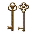 Prima - Metal Embellishments - Keys - Style 1