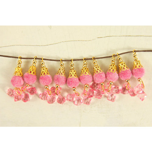 Prima - Rondelle Collection - Bauble Trinkets - Velvet Embellishments