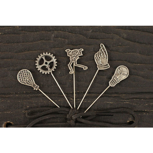 Prima - Craftsman Collection - Metal Embellishments - Pins
