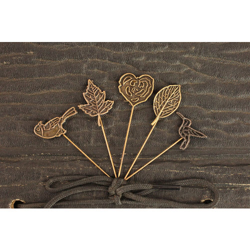 Prima - Rondelle Collection - Metal Embellishments - Pins