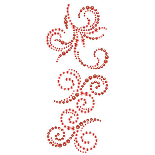 Prima - Say It In Crystals and Pearls Collection - Self Adhesive Jewel Art - Bling - Swirl - Welcome to Paris