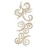 Prima - Say It In Crystals and Pearls Collection - Self Adhesive Jewel Art - Bling - Swirl - Rondelle