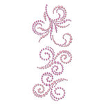 Prima - Say It In Crystals and Pearls Collection - Self Adhesive Jewel Art - Bling - Swirl - Rosarian