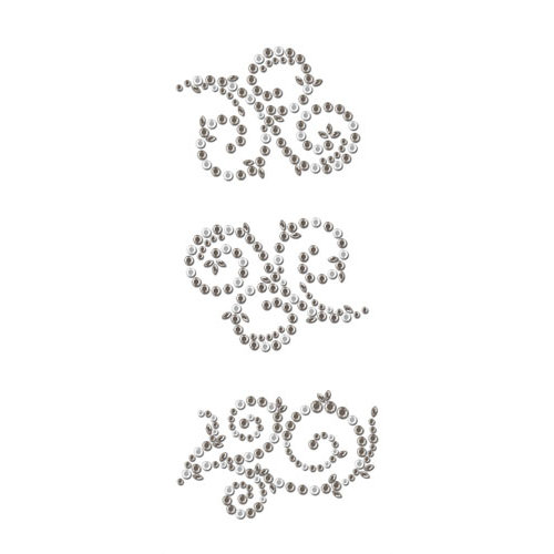 Prima - Say It In Crystals Collection - Self Adhesive Jewel Art - Bling - Swirl - Craftsman