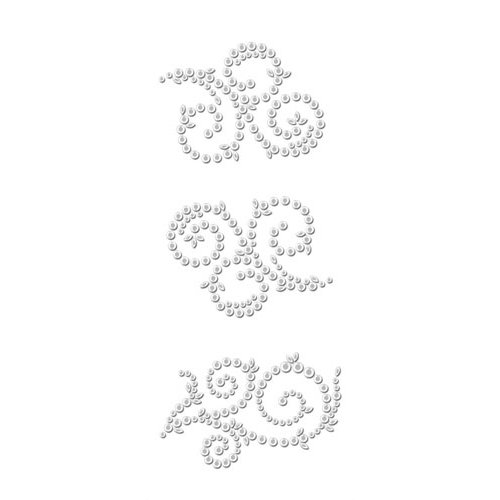 Prima - Say It In Crystals Collection - Self Adhesive Jewel Art - Bling - Swirl - Tea-Thyme