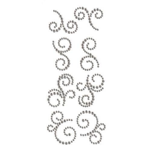 Prima - Say It In Crystals Collection - Self Adhesive Jewel Art - Bling - Mini Swirls - Craftsman