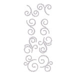 Prima - Say It In Crystals Collection - Self Adhesive Jewel Art - Bling - Mini Swirls - Zephyr