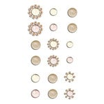 Prima - Say It In Crystals Collection - Self Adhesive Jewels - Bling - Assortment 10