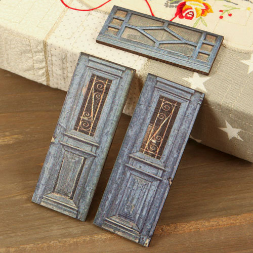 Prima - Wood Embellishments - Doors - Set 8