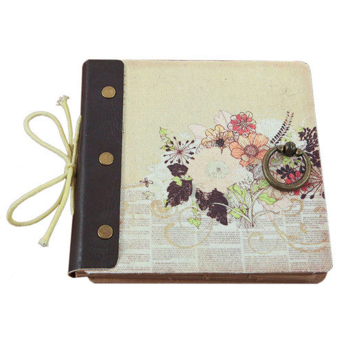 Prima - Mixed Media Album - 6.25 x 6.25 - Flowers