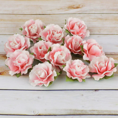 Prima - Encore Collection - Paper Flower Embellishments - Pink