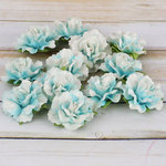 Prima - Encore Collection - Paper Flower Embellishments - Turquoise