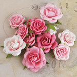 Prima - Interlude Collection - Flower Embellishments - Pink