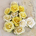 Prima - Interlude Collection - Flower Embellishments - Yellow