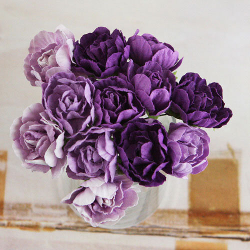 Prima - Serenade Collection - Flower Embellishments - Purple