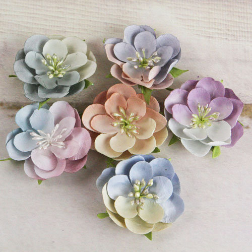 Prima - Prelude Collection - Flower Embellishments - Vintage Mix