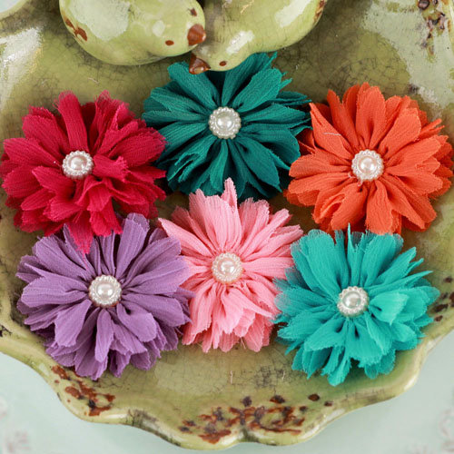 Prima - Cabaletta Collection - Fabric Flower Embellishments - Summer 1